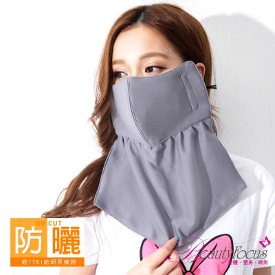 BeautyFocus  抗UV吸濕排汗護頸口罩-深灰色