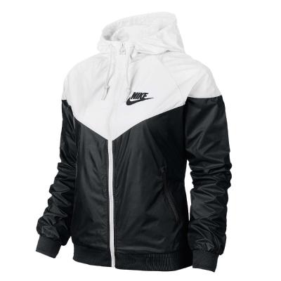 Nike-外套-Windrunner-運動-女-白