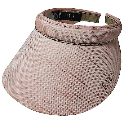 DAKS 經典字母刺繡LOGO格紋頭圍滾邊造型遮陽帽(粉色系)