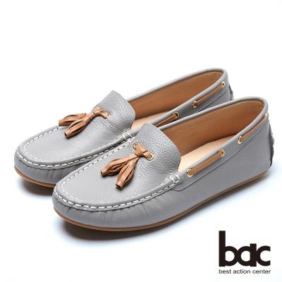 bac經典時尚 優雅品味帆船鞋-灰色