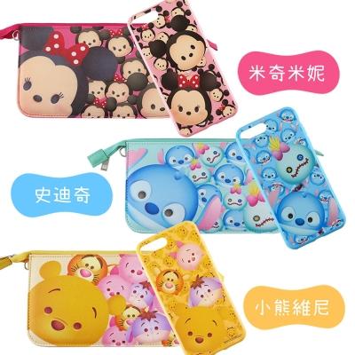 Disney迪士尼iPhone 8/7Plus TsumTsum彩繪軟套+手機袋...