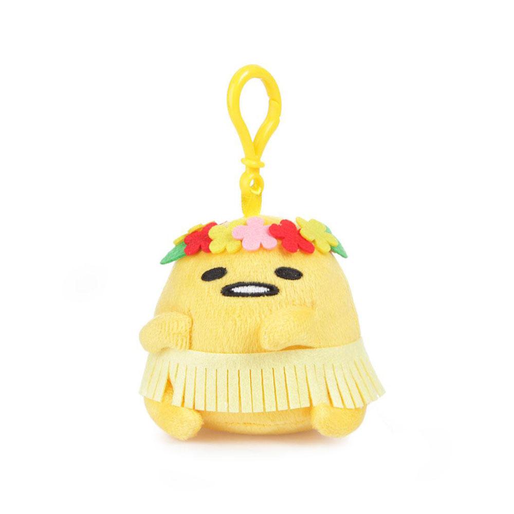 Sanrio 蛋黃哥美國版夏威夷系列迷你玩偶鎖圈(草裙舞)