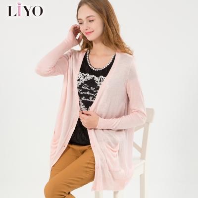 LIYO理優韓風針織外套(粉,黑,綠)