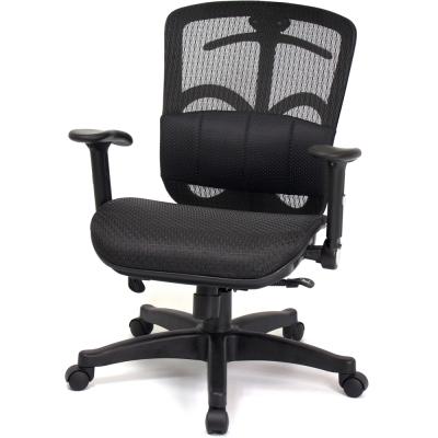 aaronation愛倫國度 - 氣囊式腰靠辦公椅/電腦椅(DW-338A-1-黑)