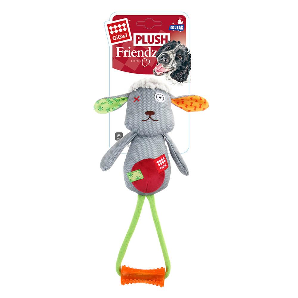 GiGwi朋友不嫌多-啾啾拉繩玩具(M號羊)
