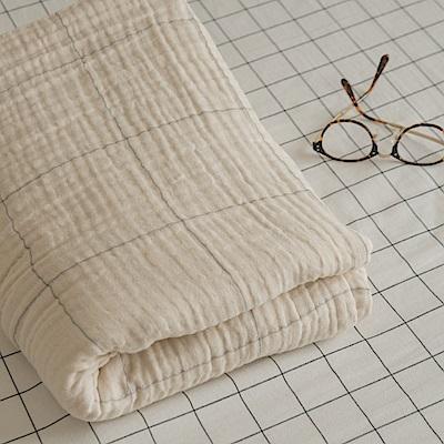 翔仔居家 雙層紗涼毯-150x200cm(經典米) 台灣製