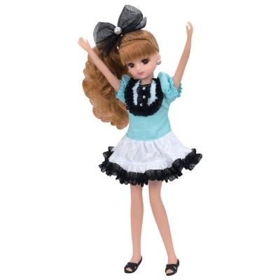 莉卡娃娃-LD6藍白花邊洋裝