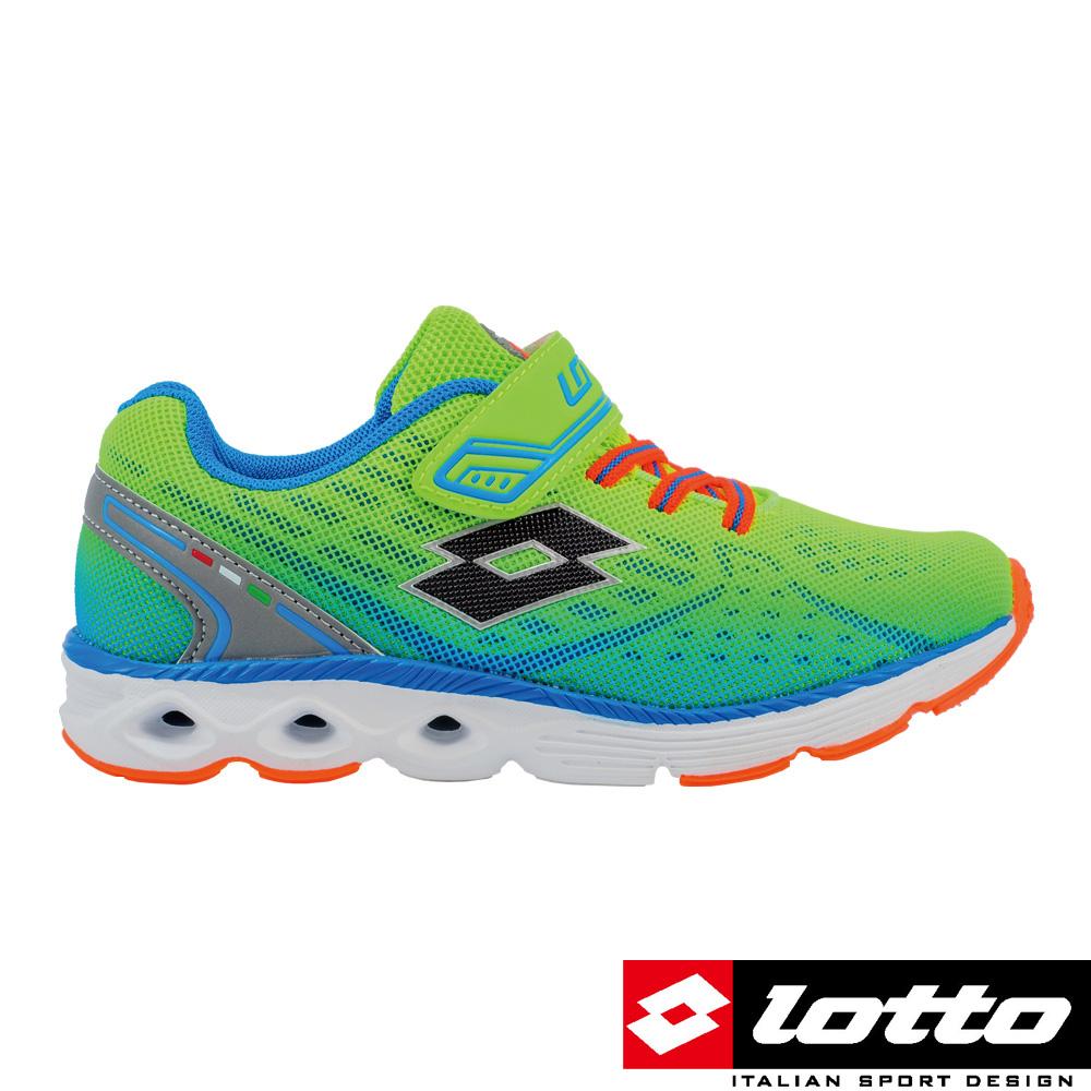LOTTO義大利男中童4D風動跑鞋綠漸層