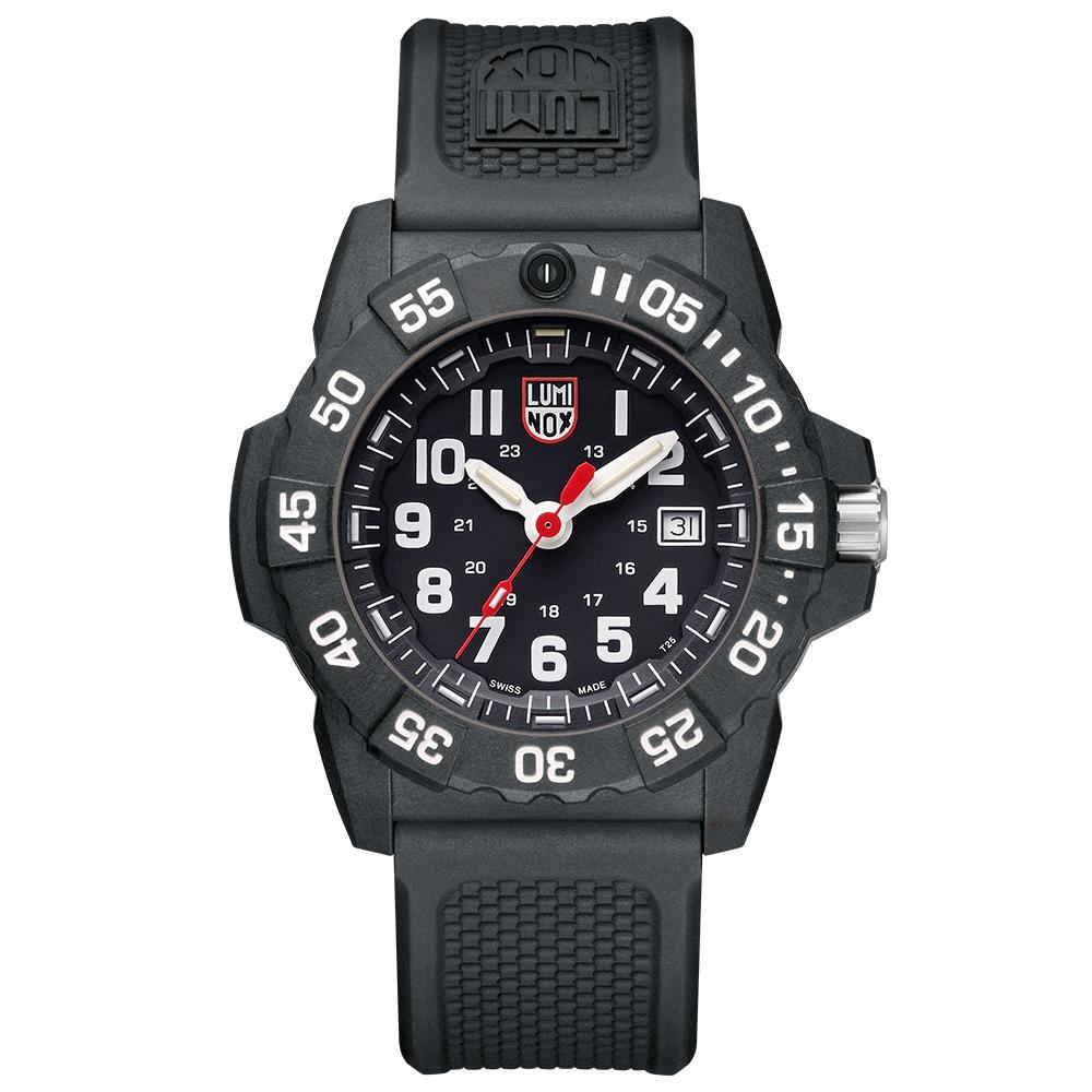 LUMINOX 雷明時NAVY SEAL 3500全新海豹2代系列腕錶-黑x白時標/45m
