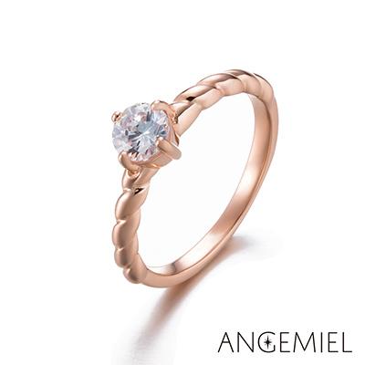 Angemiel安婕米 925純銀戒指 編織夢想(玫瑰金)