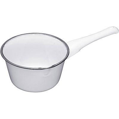 KitchenCraft 懷舊琺瑯牛奶鍋(白17cm)