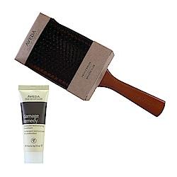 AVEDA 木質髮梳+復原配方強效護髮乳25ml