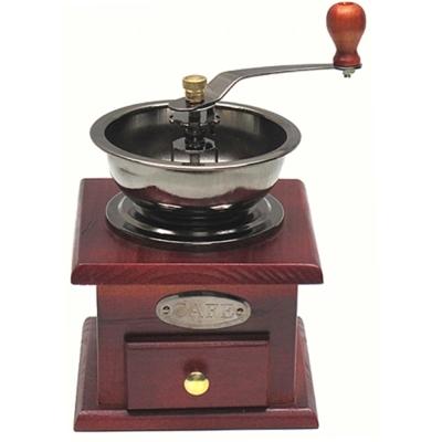 手工木製咖啡豆可調粗細磨豆機研磨機(隨機出貨)