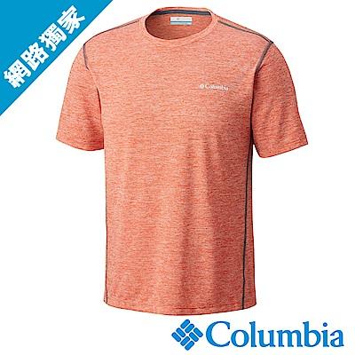 Columbia哥倫比亞 男款-快排短袖上衣 橘色 (UAO12930OG)