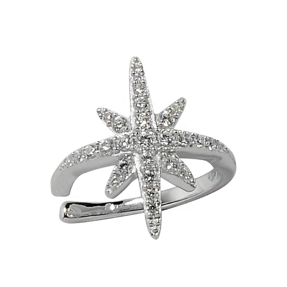 apm MONACO法國精品珠寶 閃耀銀色繁星單邊耳骨夾耳環