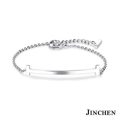 JINCHEN 白鋼微笑手鍊
