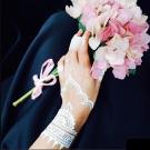 梨花HaNA 法式浪漫White HENNA Tattoos白蕾絲刺青貼4入-速