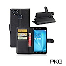 PKG ASUS Zenfone3 ZOOM (ZE553KL)側翻式皮套-經典系列-黑
