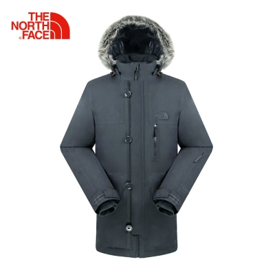 The North Face北面男款深灰色防水保暖羽絨外套