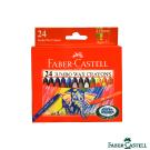 Faber-Castell 紅色系 大象粗芯蜂蠟筆24色