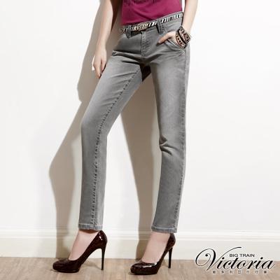 Victoria 立體摺灰色BF褲-女-中灰