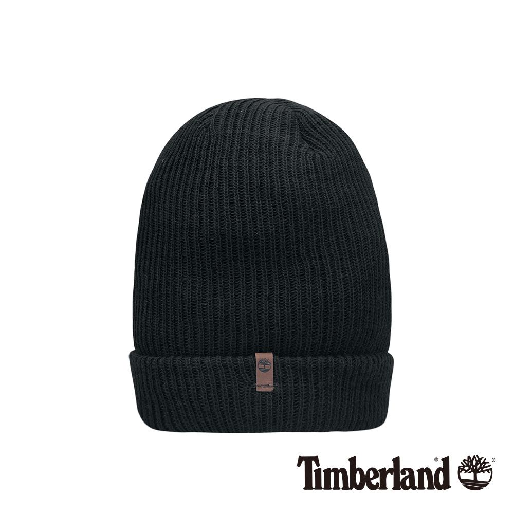 Timberland黑色標織針織帽