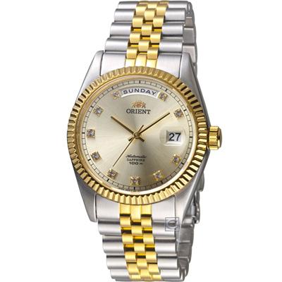 ORIENT 東方錶 WILD CALENDAR系列機械錶-37mm/金色x銀色
