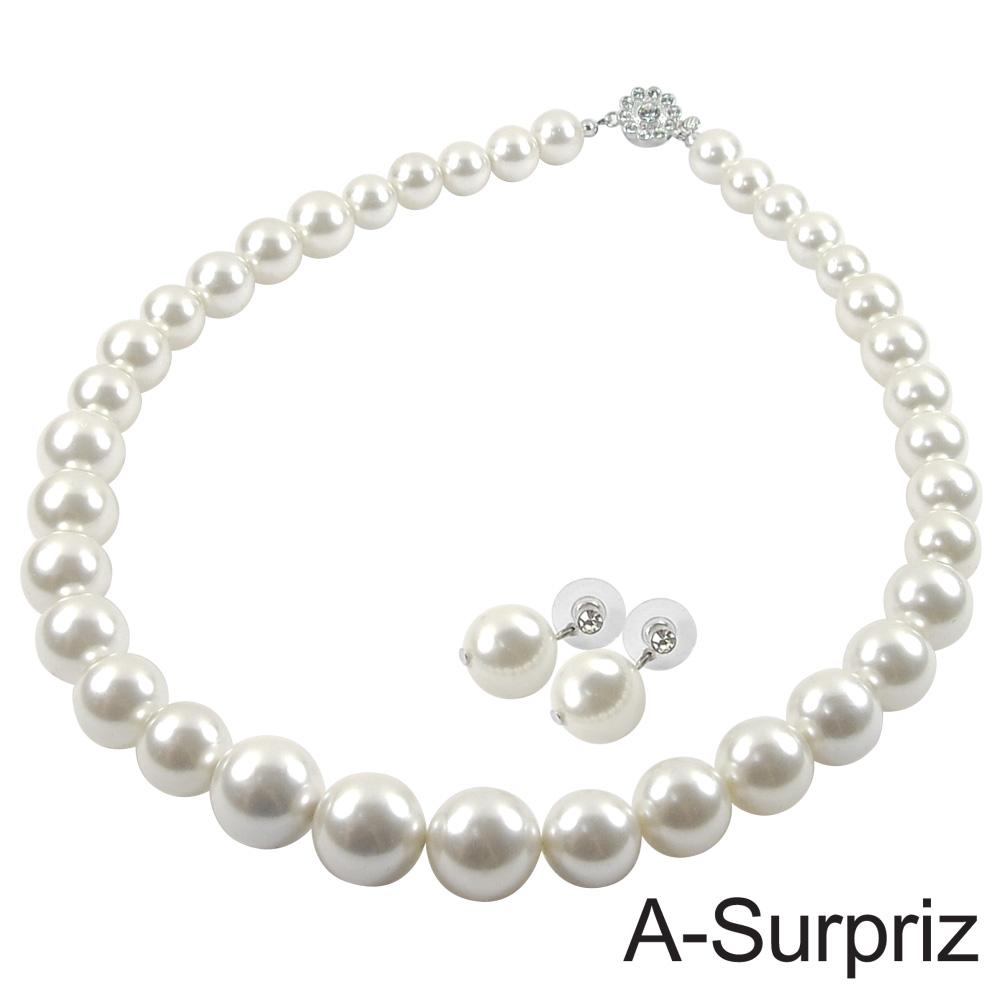 【A-Surpriz】16mm南洋白貝珍珠套組