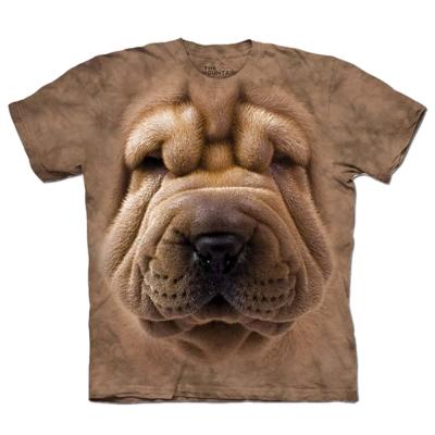 摩達客 美國進口The Mountain沙皮狗臉 純棉短袖T恤
