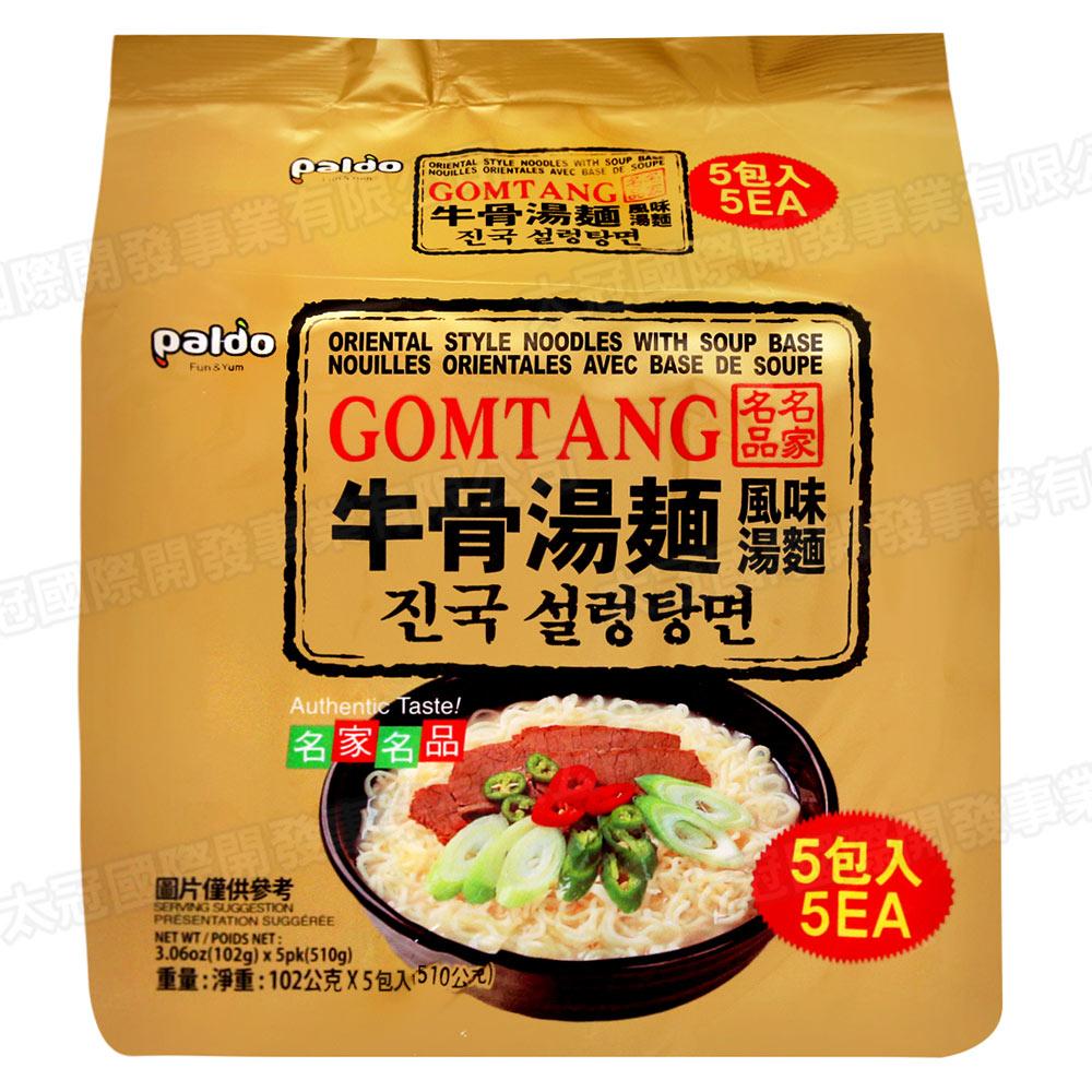 Paldo 韓國牛骨湯麵(102gx5包)