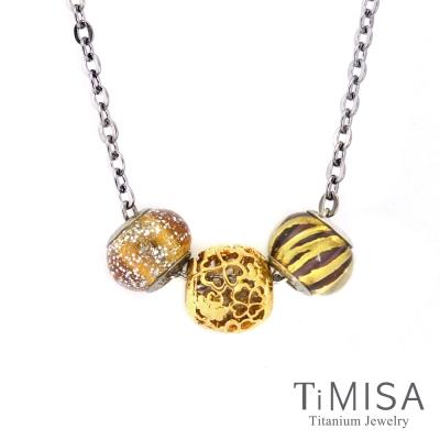 TiMISA 小確幸 金 純鈦串飾 項鍊
