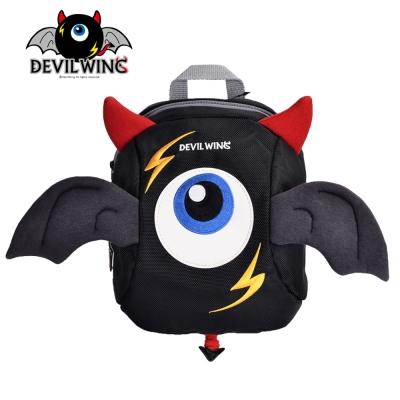 韓國 Devil Wing 小惡魔翅膀幼兒防走失背包(書包)-黑