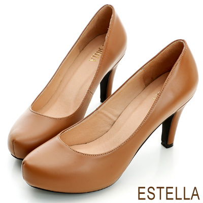 ESTELLA-台灣手工製-MIT全真皮內增高厚底