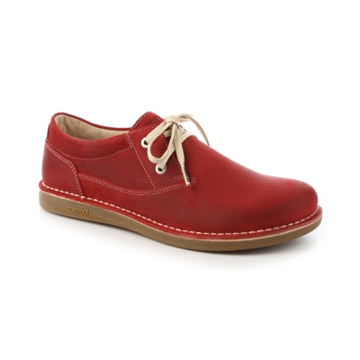 勃肯BIRKENSTOCK 406541曼非斯休閒鞋(暗紅)30-34