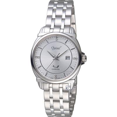 Ogival 愛其華典藏真鑽時尚腕錶(350-04LS)白/30mm