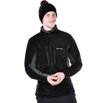 【Berghaus貝豪斯】男款 Polartec保暖刷毛外套H22MT7-黑