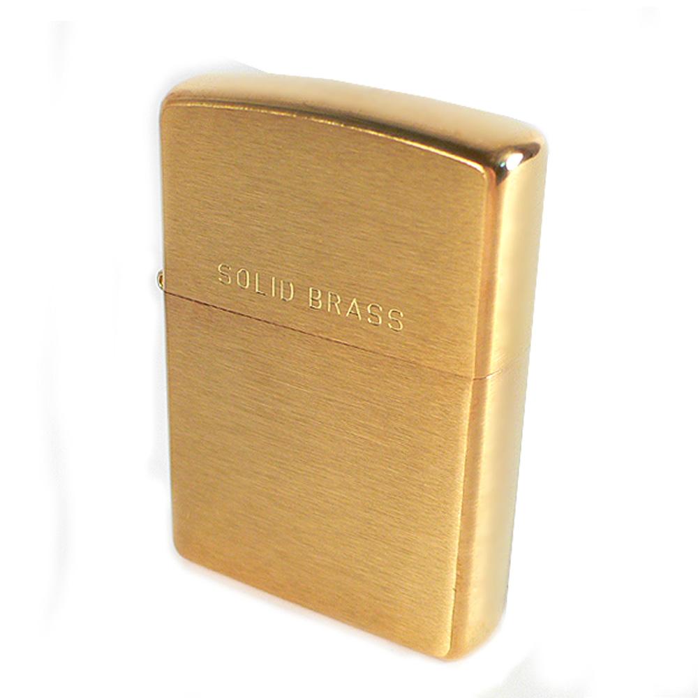 【ZIPPO】美系~Solid Brass~拉絲打磨金色霧面