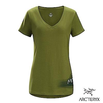 Arcteryx 24系列 女 有機棉 Remote 短袖T恤 河畔綠