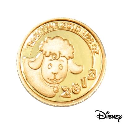 迪士尼金飾 Disney迪士尼2015羊年紀念金幣 1/25盎司