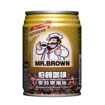 金車伯朗 咖啡曼特寧風味-二合一無糖(240mlx24入)