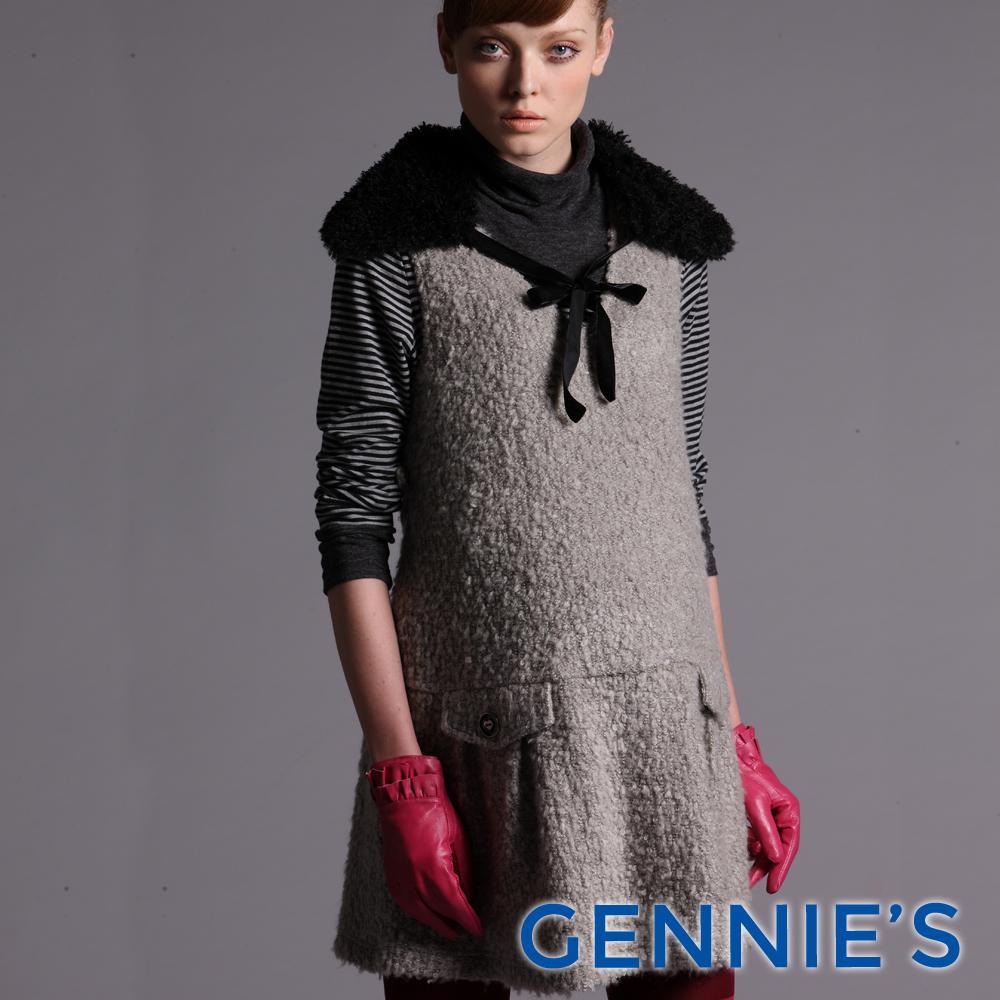 Gennies-010系列-高雅羊毛孕婦背心洋裝(T2434)