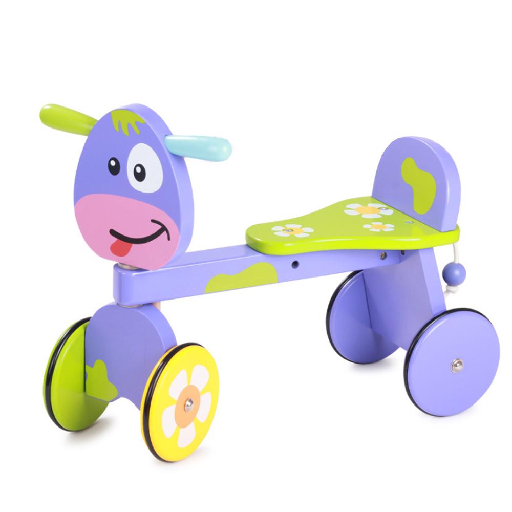 兒童木製學習四輪滑步車(12m+)