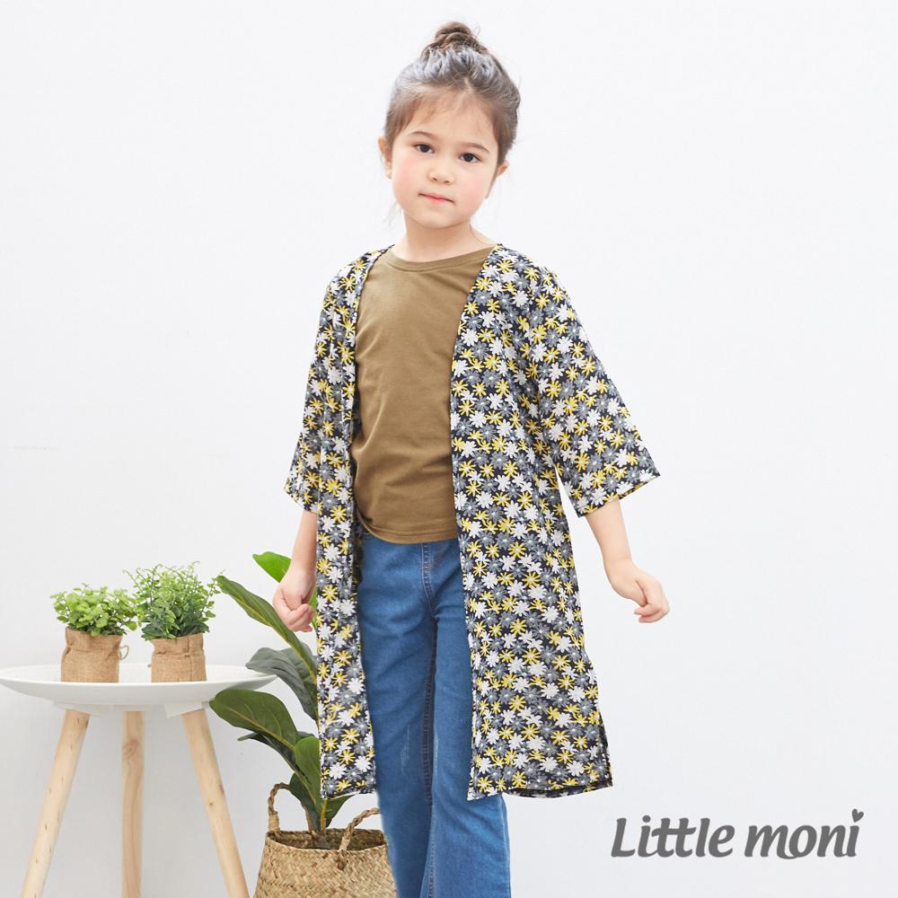 Little moni 花卉長版罩衫 (2色可選)
