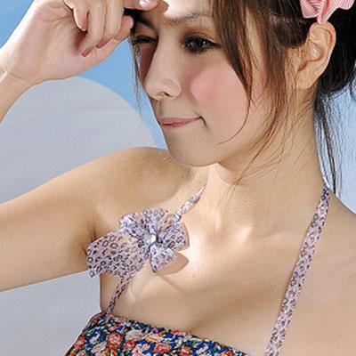 Aimee Toff 晶艷豹紋水鑽繞頸造型肩帶(紫)