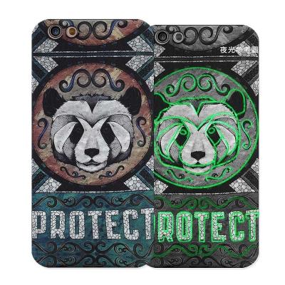 野性的呼喚 OPPO R9s 5.5吋 浮雕夜光彩繪軟式手機殼(熊貓)