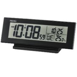 SEIKO 日本精工 電子鬧鐘 溫度/日期(QHL072K)-黑/20.6x8.3cm
