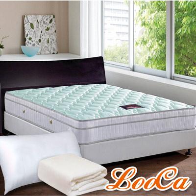 LooCa涼感調節三線獨立筒床枕三件組 單人3.5尺