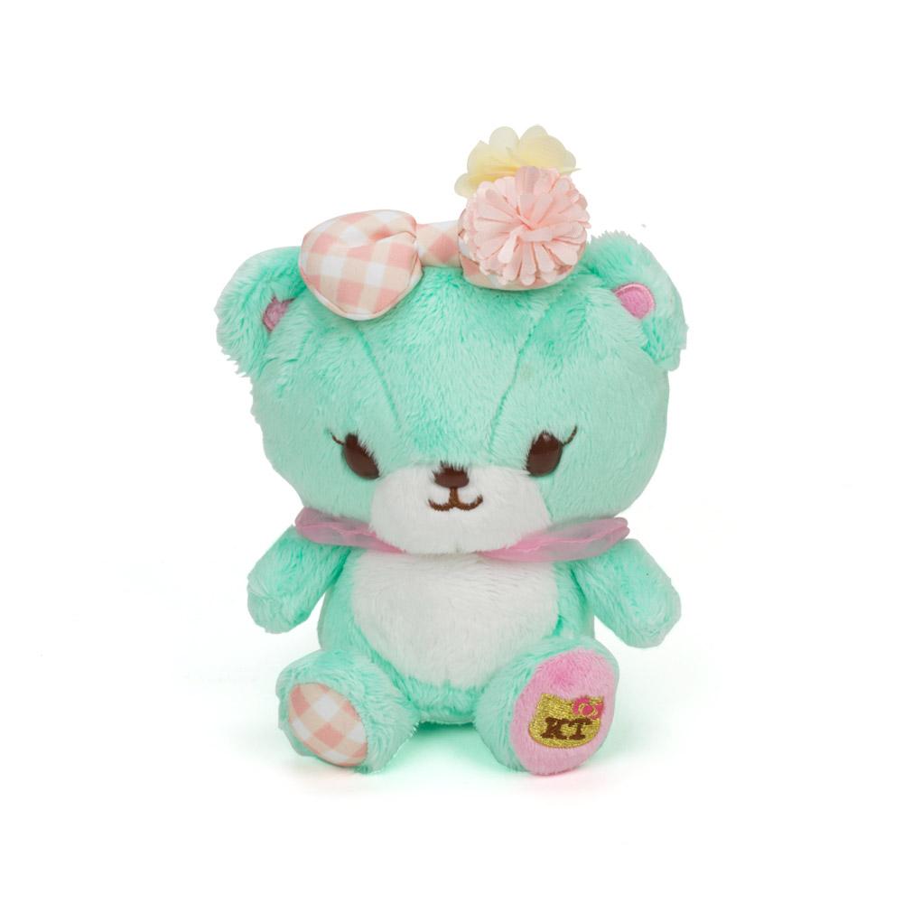Sanrio HELLO KITTY*NICOLA聯名絨毛娃娃(Tinychum小熊綠)