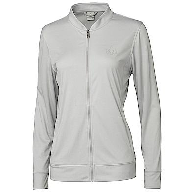 【HAKERS】女 抗UV快乾短領外套-灰色