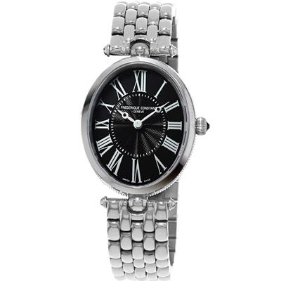 康斯登CONSTANT Art Deco典雅時尚腕錶-30x25mm/銀色
